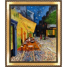 Cafe Terrace at Night by Vincent Van Gogh Framed Painting Print