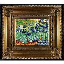 'Irises' by Vincent Van Gogh Framed Original Painting