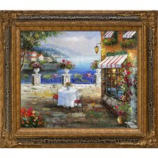 Cafe Italy Framed Painting Print
