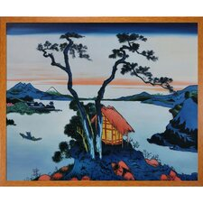 Lake Suwa in the Shinano Province by Katsushika Hokusai Framed Painting Print
