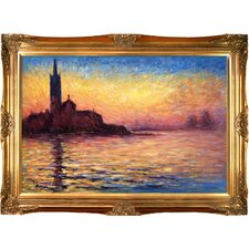 San Giorgio Maggiore by Twilight by Claude Monet Framed Original Painting