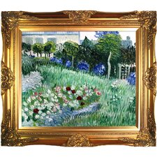 The Garden of Daubigny by Vincent Van Gogh Framed Original Painting