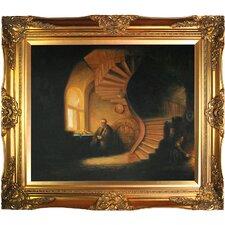 The Philosopher in Meditation by Rembrandt van Rijn Framed Original Painting