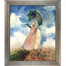 Woman with a Parasol by Claude Monet Framed Painting Print