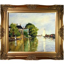 Houses on the Achterzaan by Claude Monet Framed Painting Print