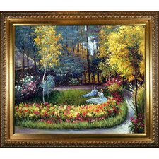 In the Garden by Claude Monet Framed Painting Print