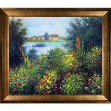 Flowers at Vetheuil by Claude Monet Framed Painting Print