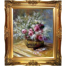 Flowers in a Pot by Claude Monet Framed Painting Print