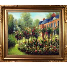 The Garden at Fontenay by Pierre-Auguste Renoir Framed Original Painting