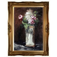 Flowers in a Crystal Vase II by Edouard Manet Framed Painting Print on Wrapped Canvas