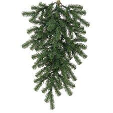Deluxe Windsor Pine Artificial Christmas Teardrop Swag