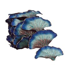 Regal Peacock Glittering Artificial Ginkgo Leaf Christmas Garland