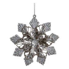 Sparkling Glitter Embellished Floral Star Christmas Ornament