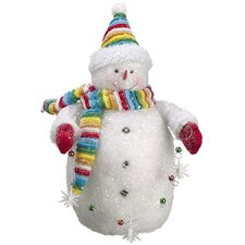 Cupcake Heaven Chubby Snowman with Ornament Strand Christmas Table Figure