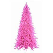 7.5' Downswept Hot Pink Noble Pine Artificial Christmas Tree