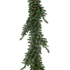 Pre Lit Weeping Pine Artificial Christmas Garland with Lights