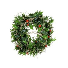"5"" Artificial Mini Holly Berry Christmas Wreath"
