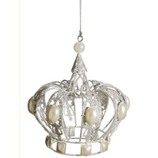 Glamour Time Shimmer Royal Pearl Crown Christmas Ornament