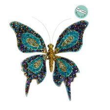 Beaded Butterfly Clip-on Christmas Ornament