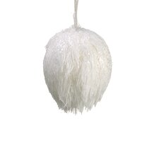 Glittered Fuzzy Snowball Christmas Ornament