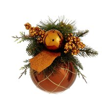 Pine Cone and Berry Glittered Christmas Ball Ornament Decor