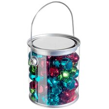 Pack of 66 Jewel Tone Red Green and Blue Metal Jingle Bell Christmas Ornaments