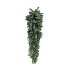 Mixed Long Needle Pine Artificial Christmas Teardrop Swag