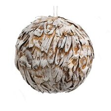 Rustic Dried Glitter Artichoke Christmas Ball Ornament