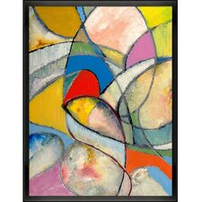 An Abstract Painting by Clive Watts Framed Painting Print