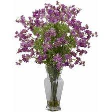 Dancing Daisy Silk Flower Arrangement with Planter