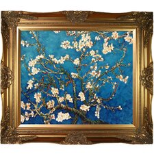 'Branches of an Almond Tree in Blossom' by Vincent Van Gogh Framed Original Painting