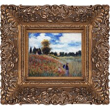 Poppy Field in Argenteuil by Claude Monet Framed Original Painting