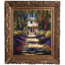 Garden Path at Giverny by Claude Monet Framed Original Painting