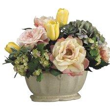 Tulip/Rose/Hydrangea in Ceramic Pot