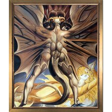 'The Red Dragon and the Woman Clothed with the Sun, 1803-1805' by William Blake Framed Original Painting