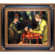 Card Players with Pipes by Paul Cezanne Framed Painting Print