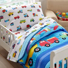 Olive Kids Trains, Planes and Trucks Toddler Sheet Set