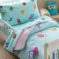 3 Piece Olive Kids Birdie Toddler Sheet Set