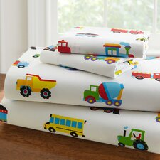Olive Kids 210 Thread Count Trains, Planes and Trucks Sheet Set
