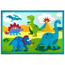 Olive Kids Dinosaur Land Area Rug