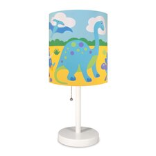 "Olive Kids Dinosaur Land Cylinder 18"" Table Lamp with Drum Shade"