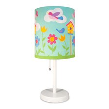 "Olive Kids Birdie Cylinder 18"" Table Lamp with Drum Shade"