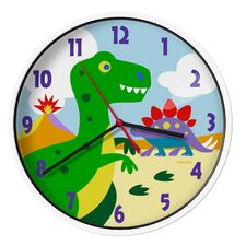 "Olive Kids Dinosaur Land 12"" Wall Clock"