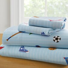 Olive Kids Game On 210 Thread Count 100% Cotton Sheet Set