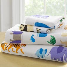 Olive Kids Endangered Animals Toddler 210 Thread Count 100% Cotton Sheet Set