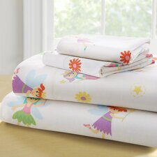 Olive Kids Fairy Princess 210 Thread Count 100% Cotton Sheet Set