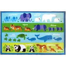 Endangered Animals Area Rug