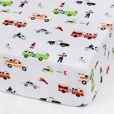 Heroes Olive Kid Fitted Crib Sheet