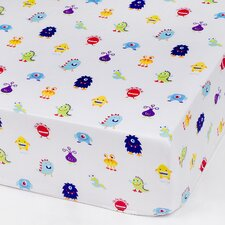 Monsters Olive Kid Fitted Crib Sheet