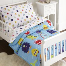 Monsters 4 Piece Toddler Bedding Set